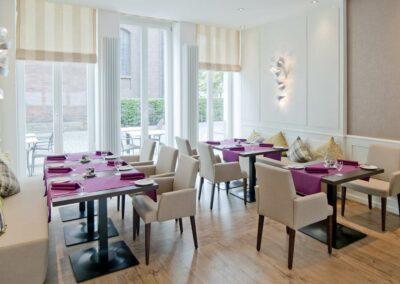 restaurant in münster innenstadt - Foto Kaminzimmer